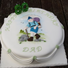 Hiker 80th Birthday Cake