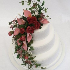Carla's cascade of sugar flowers wedding cake