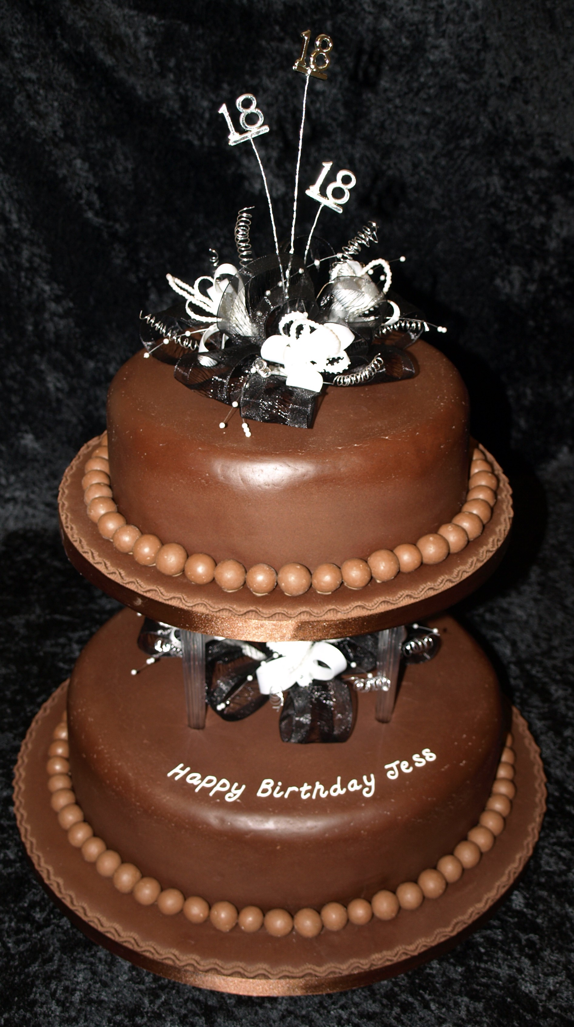 Chocolate & Maltesers 18th Birthday Cake - Donna Jane Cakes