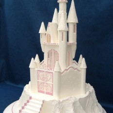 Fairy Tale Castle Royal Iced Wedding Cake