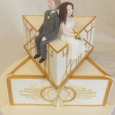 Geometric Art Deco Wedding Cake