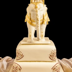 Hindu Elephant Wedding Cake