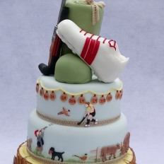 Hockey, Shooting,  Sport & Countyside Themed Wedding Cake