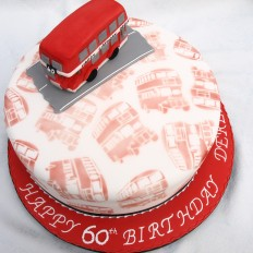 London Red Bus Birthday Cake