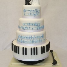 Music themed wedding cake