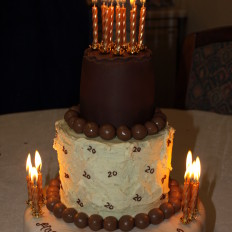 Triple Tier Chocolate Birthday Cake