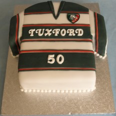 Leicester Tigers Rugby Shirt Birthday Cake
