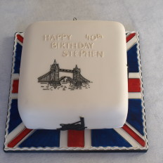 London Historical Themed Birthday Cake