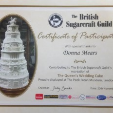 Queens Cake completion certificate