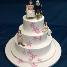 Star Wars & Wellies Wedding Cake