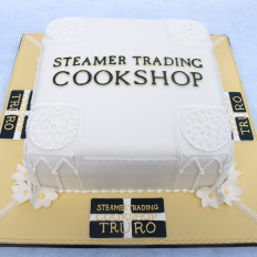 Steamer Trading - Cornish Logo Cake