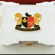Liskeard Looe RFC, Royal Iced, Coat of Arms Celebration Cake