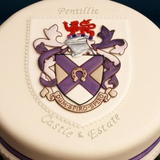 Pentillie Castle Logo Celebration Cake