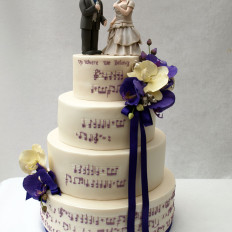 music note wedding cake
